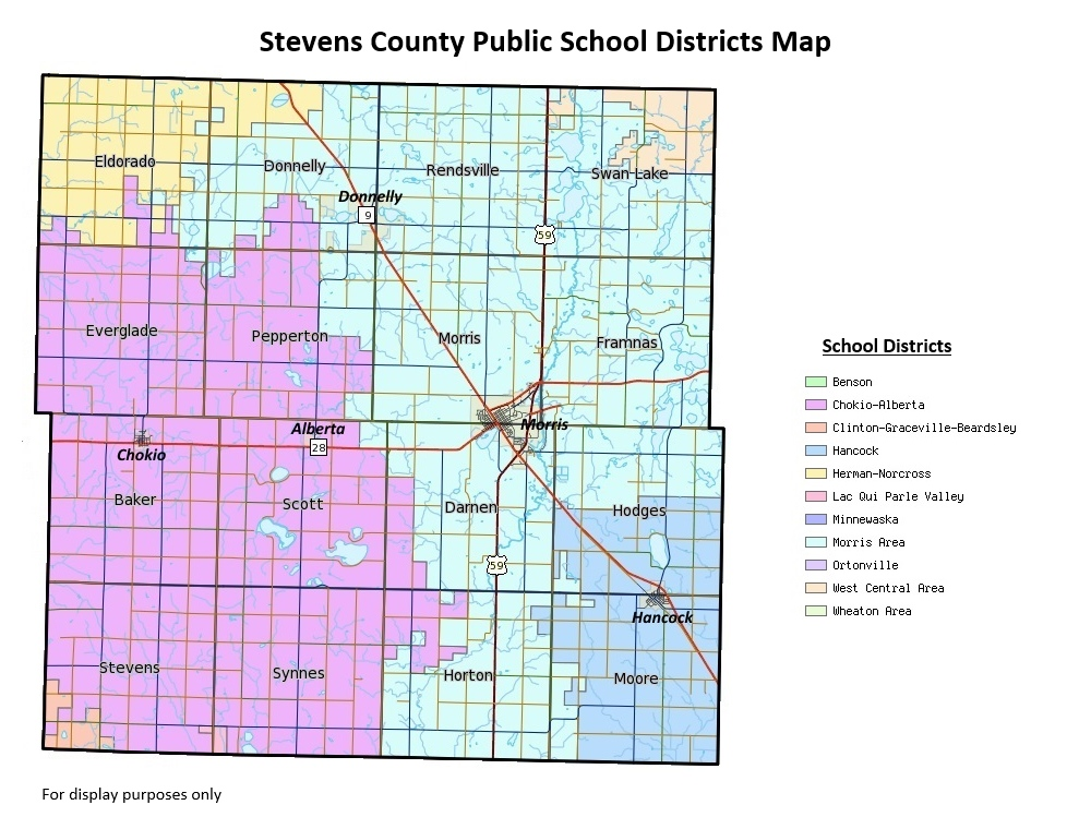 Stevens County Public School Districts Map